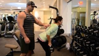Упражнение ТЯГА ШТАНГИ В НАКЛОНЕ - Широчайшие мышцы спины + БИЦЕПС(, 2014-01-07T03:40:04.000Z)