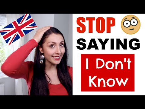 """improve-your-english---stop-saying-""""i-don't-know"""""""