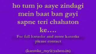Payaa Maine Payaa Tujhe - Karaoke by Aditya Sharma.wmv