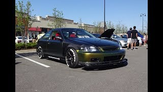 Gambar cover 1999 Honda Civic SiR Right Hand Drive Tuner in Green & Engine Sound My Car Story with Lou Costabile