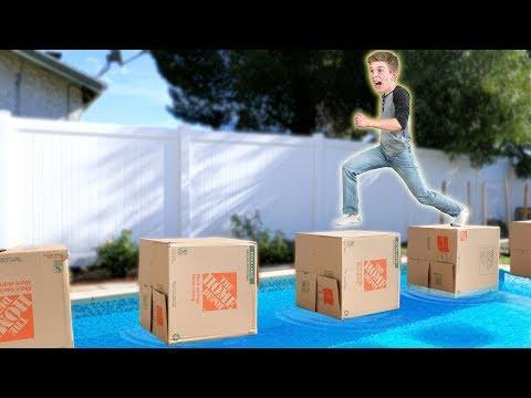 Box Ninja Warrior Challenge!!