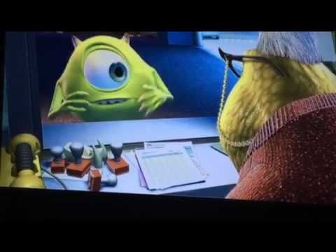 Monsters inc Mike talks to Roz