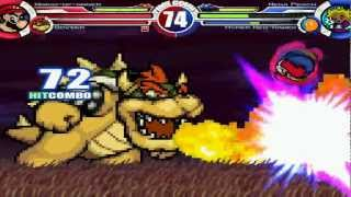 Mario-Of-Anger & Bowser vs Nega Peach & Hyper-Neo-Kamek MUGEN Battle!!!