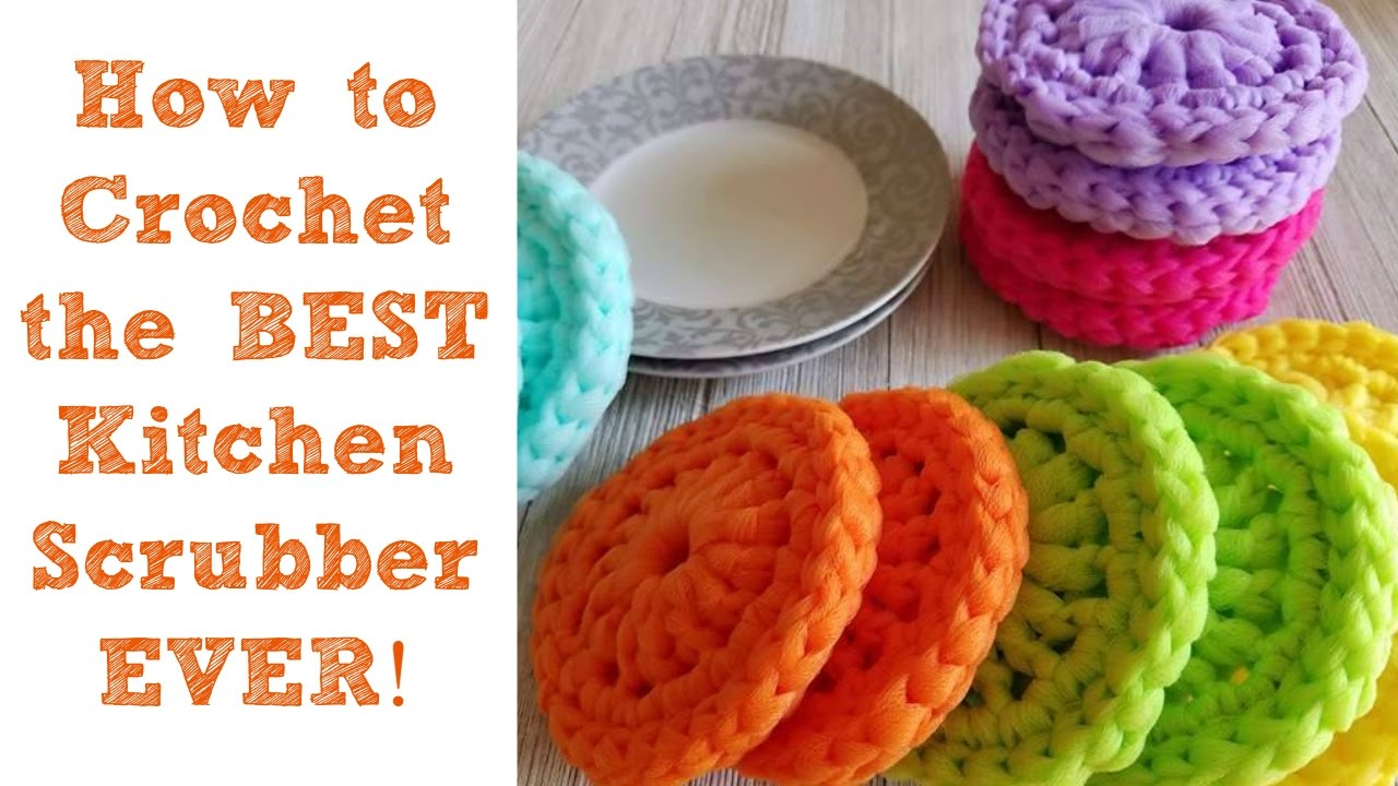 How to crochet the best kitchen scrubber ever youtube for Nicest kitchen ever