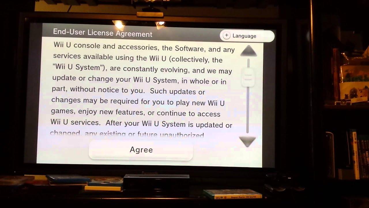 Nintendo Wii U Eula Update Lock Youtube