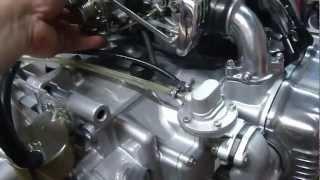 Moteur Honda Goldwing 1000 au banc
