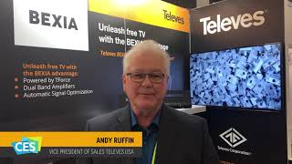 Televes at CES 2019. Andy Ruffin VP of Sales explains the new line of Over-the-air antennas