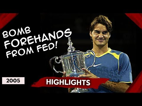 AWESOME QUALITY! FEDERER Vs AGASSI US Open 2005 Final HIGHLIGHTS!