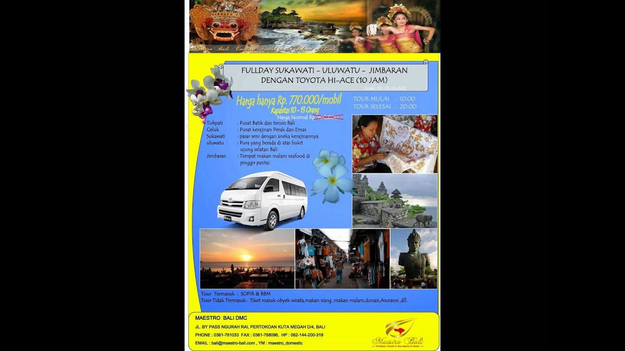 Car Rental Murah Di Bali Youtube Tour Transport