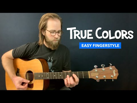 "Guitar lesson for ""True Colors"" from Trolls (Justin Timberlake & Anna Kendrick)"