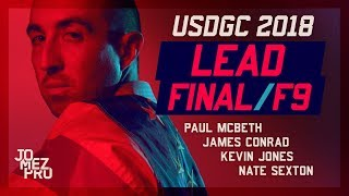 2018 USDGC | LEAD | FINAL RD F9 | McBeth, Jones, Conrad, Sexton