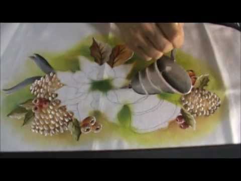 Pintura em Tecido Especial Natal ParteIIwmv  YouTube