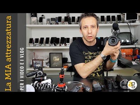 La MIA attrezzatura per i VIDEO videocamere, action cam, supporti, microfoni, mirrorless