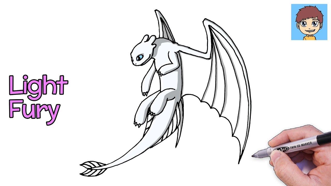 Comment Dessiner Light Fury Facilement Dessin Facile A Faire Dessin Dragons 3 Youtube