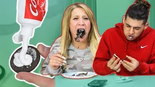 Toothpaste In Oreo  *Hilarious Reactions*