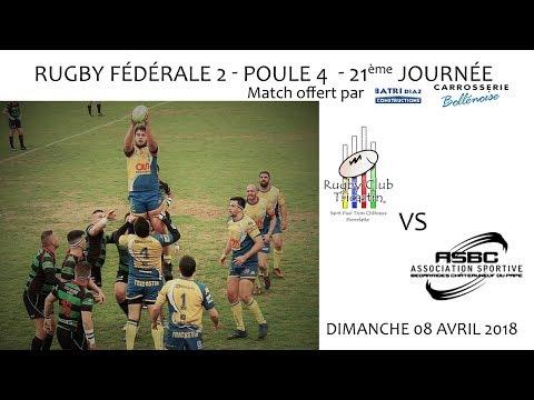 2018 04 08 Rencontres Sportives   Rugby Fédérale 2 21ème journée   RC TRICASTIN vs AS BEDARRIDES