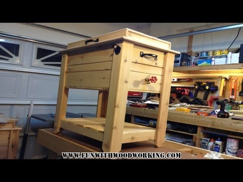 Project - How to make a rustic cedar ice chest / cooler box!