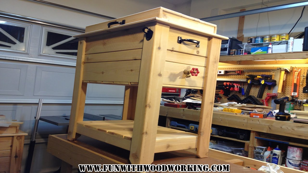 project how to make a rustic cedar ice chest cooler box