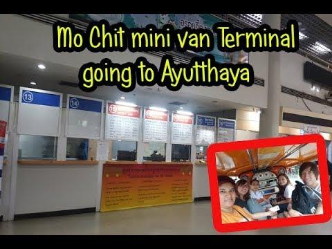 Mo Chit mini van Terminal going to Ayutthaya Historical Park