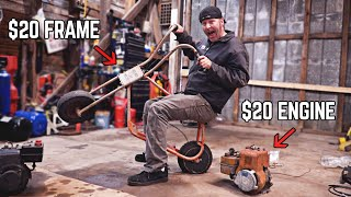 Rat Rod Mini Bike Budget Build! | Vintage Briggs meets Chopper!