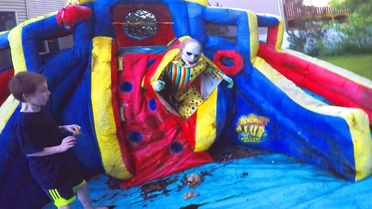 Download Scary Clown Attacks Through Inflatable Water Slide!