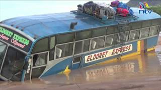 Passengers escape death after bus is almost swept by floods in Turkana