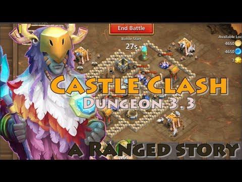 CASTLE CLASH DUNGEON 3.3 [5 RANGE HEROES]