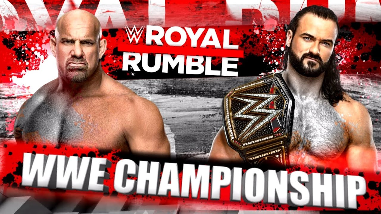 Drew McIntyre will defend the WWE Championship against Goldberg at the Royal Rumble