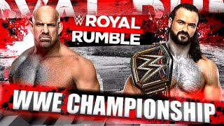 Wwe royal rumble 2021 will be on january 31, 2020. things are getting really interesting for this year's rumble. we saw goldberg returned and challenged drew...