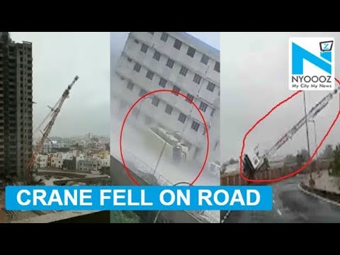 Cyclone Fani: Crane collapses in residential area in Bhubaneshwar