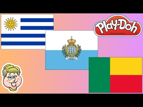 Play-Doh Flags! Uruguay, San Marino, and Benin! EWMJ #350
