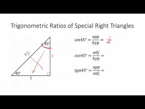 Geometry 13.3 Special Right Triangles