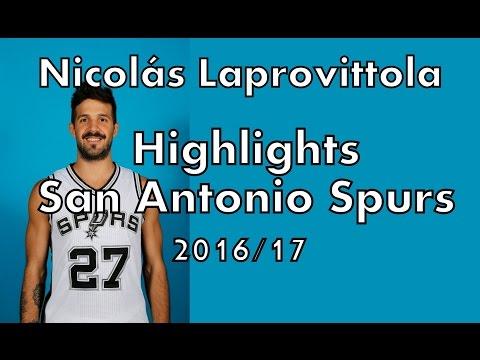 Nicolás Laprovittola - Highlights San Antonio Spurs 2016/17 (pretemporada)