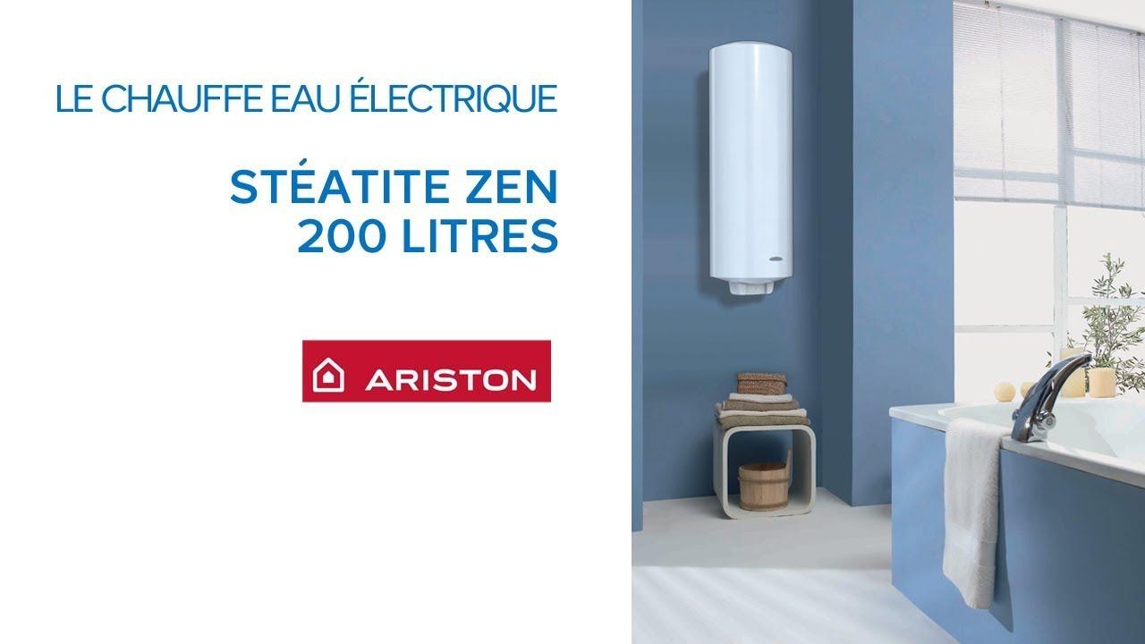 chauffe eau lectrique st atite 200 litres zen evo ariston castorama youtube