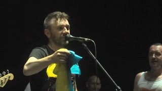 Сергей Шнуров и украинский флаг / 2012 год
