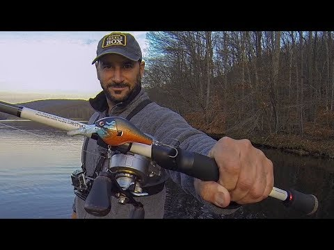Cold water bass fishing with my mystery tackle box late for Cold water bass fishing
