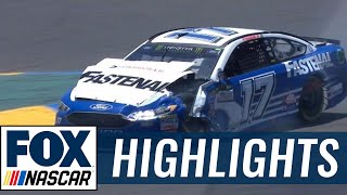 Ricky Stenhouse Jr. Makes Hard Contact with Danica Patrick | 2017 SONOMA | FOX NASCAR