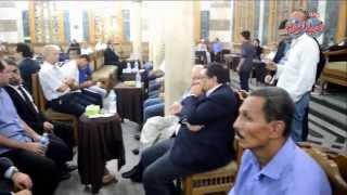 يسرى نصرالله و محمد راضي ومحمد العدل فى عزاء المخرج رأفت الميهى