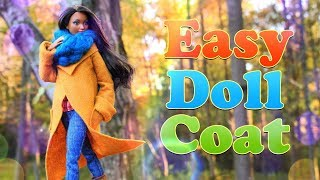 DIY - How to Make: EASY Doll Coat | Sewing Craft | Winter Fashion