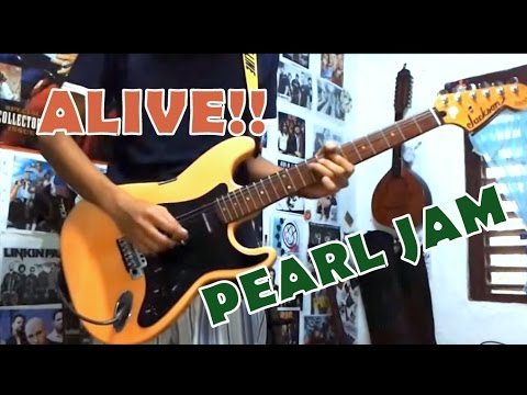 Alive Pearl Jamguitar Coverwith Chords And Tab Youtube