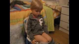 My brother fell asleep on the potty - HILARIOUS!!