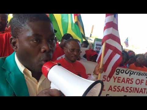 Togolese march in Rock Island