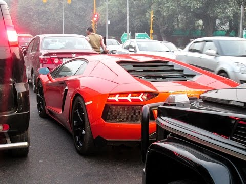 Aventador and  Delhi's traffic.