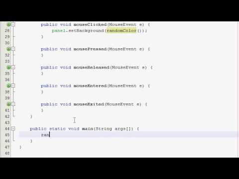 Java GUI Tutorial 17 - Random color panel - YouTube