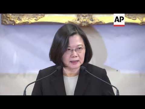 Taiwan president on Xi discounting Taiwan independence