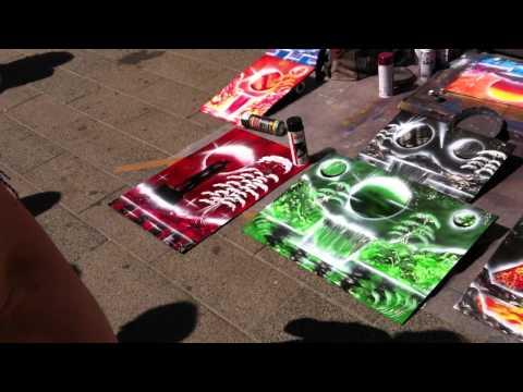 Street artist painter in copenhagen