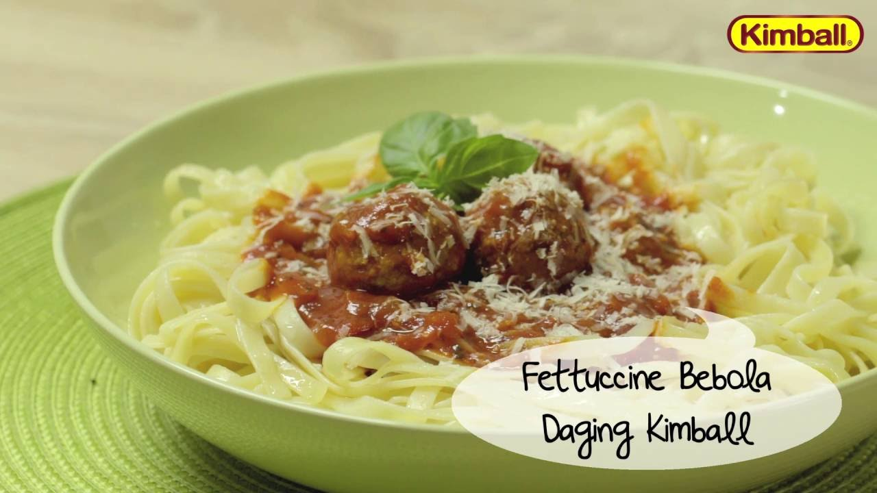 Kimball Recipe Fettuccine Bebola Daging Youtube