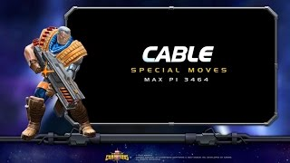 Cable Special Moves | Marvel Contest of Champ...