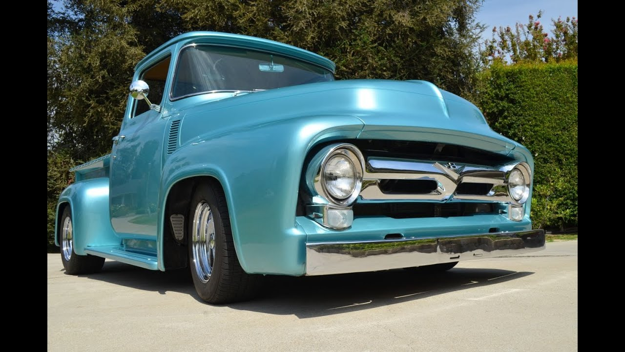 Sold 1956 ford f100 big window pickup rod ca youtube for 1956 ford big window