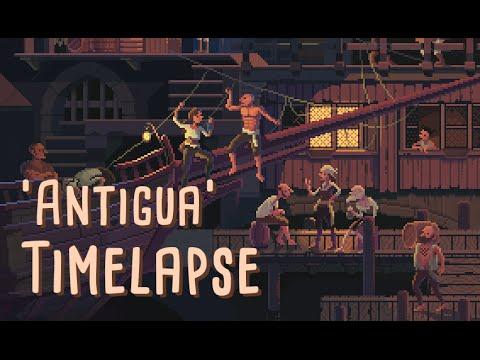 Pixel art Scene #30: 'Antigua' Timelapse